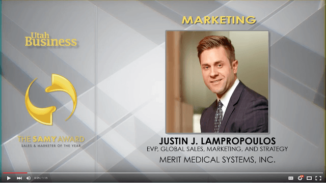 Justin Lampropoulos Sales and Marketer of the Year