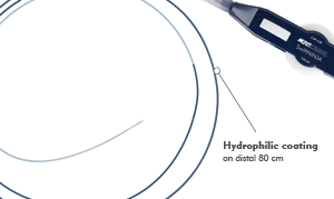 SwiftNINJA Steerable Microcatheter Hydrophilic Coating