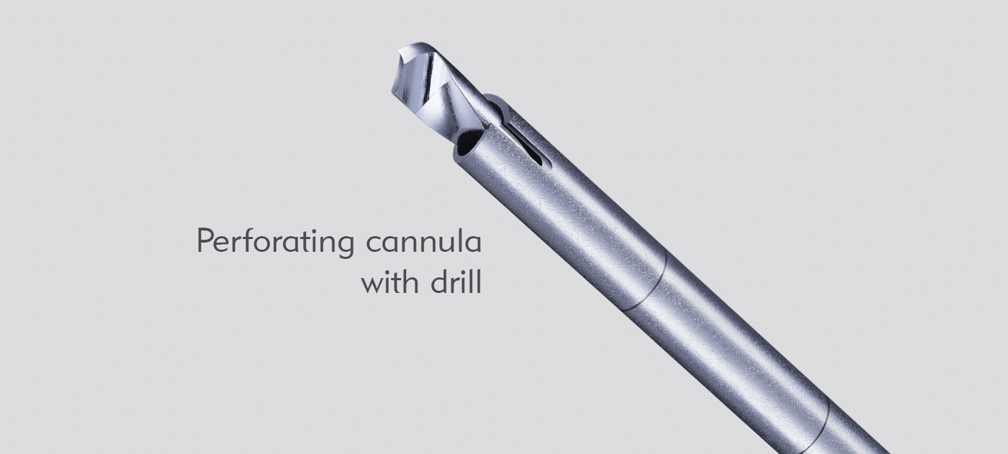 Perforating Cannula with Drill