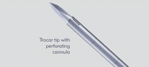 Trocar tip with perforating cannula