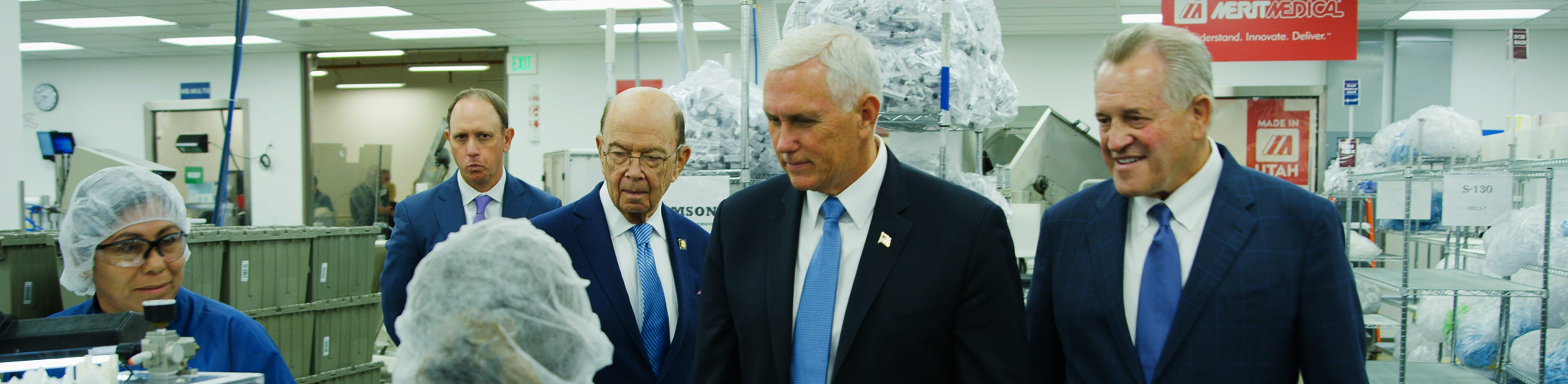 Vice President Pence & Commerce Secretary Ross Visit Merit Medical - Aug 2019