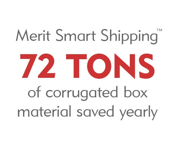 Merit Smart Shipping - Saves 72 Tons of corrugated box materially every year