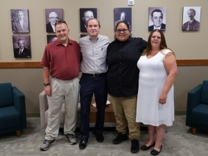 Merit Employees - Recognized for Saving Co-Worker's Life