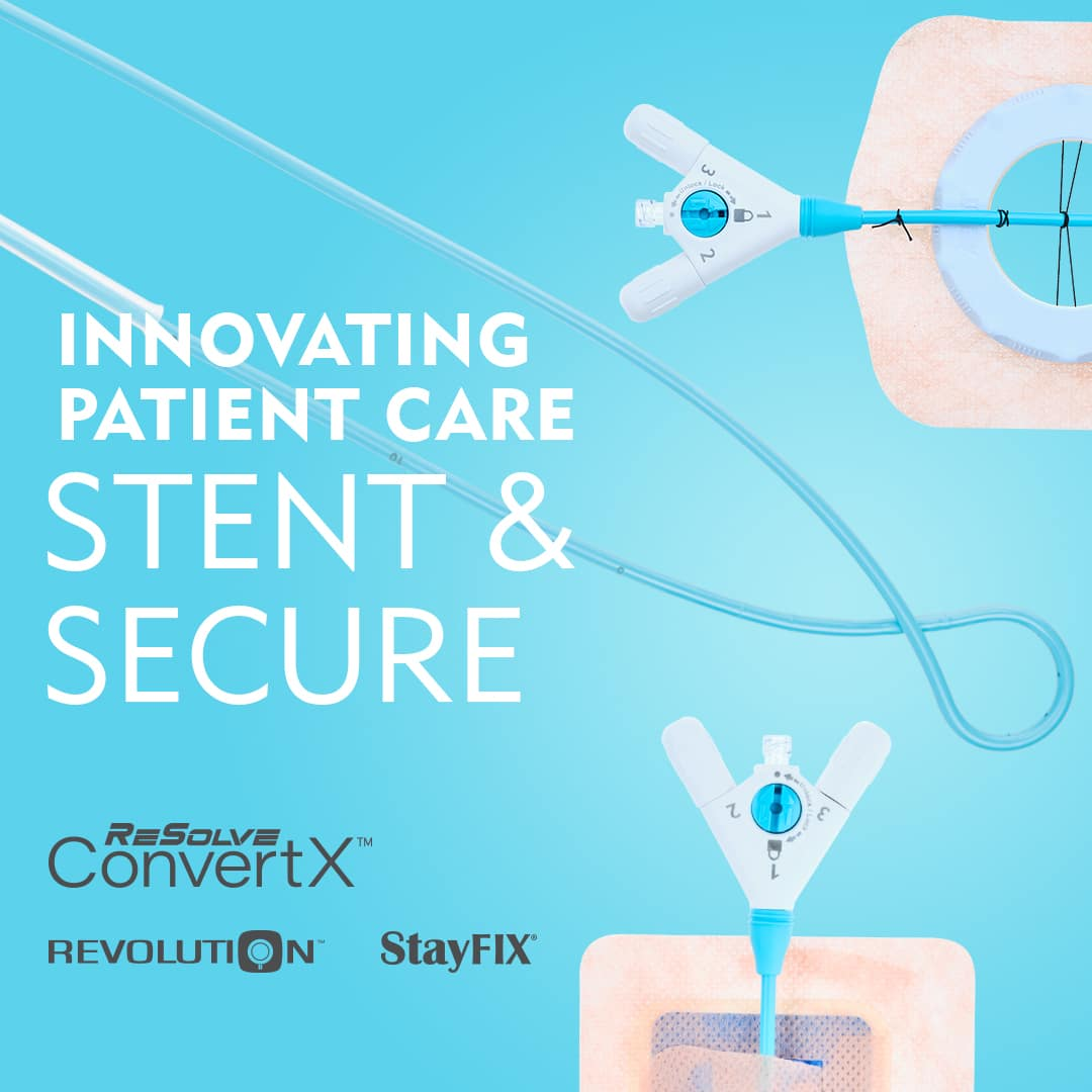 ReSolve ConvertX Nephroureteral Stent System - Stent and Secure - Revolution StayFIX - Merit Medical