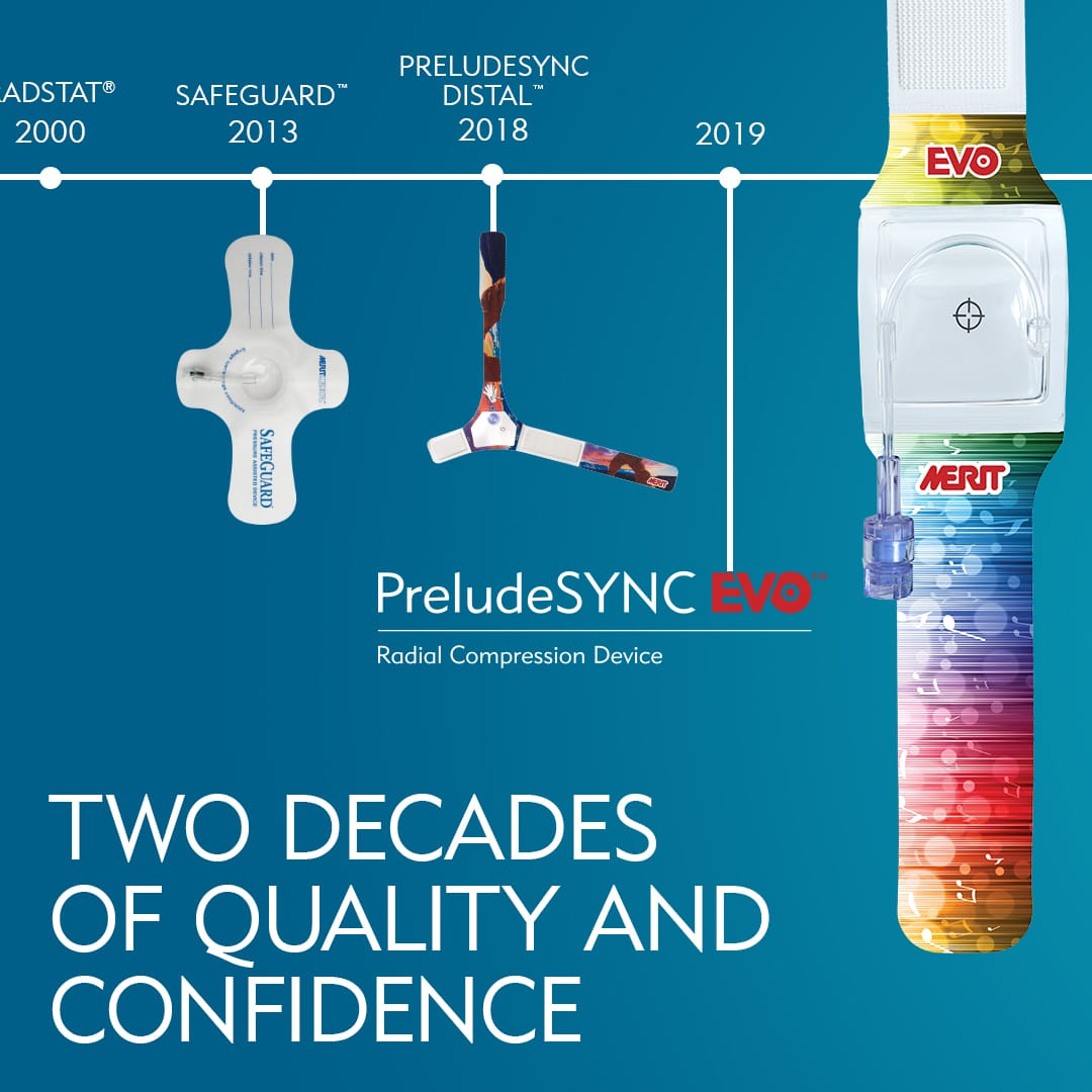 Two Decades of Quality and Confidence - Hemostasis Compression Devices - RadStat Safeguard PreludeSYNC DISTAL PreludeSYNC EVO - Merit Medical