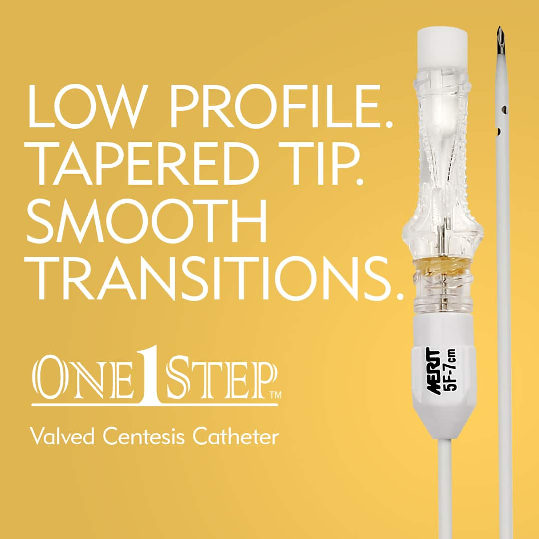 Low Profile, Tapered Tip, and Smooth Transitions - Valved One-Step Centesis Catheter