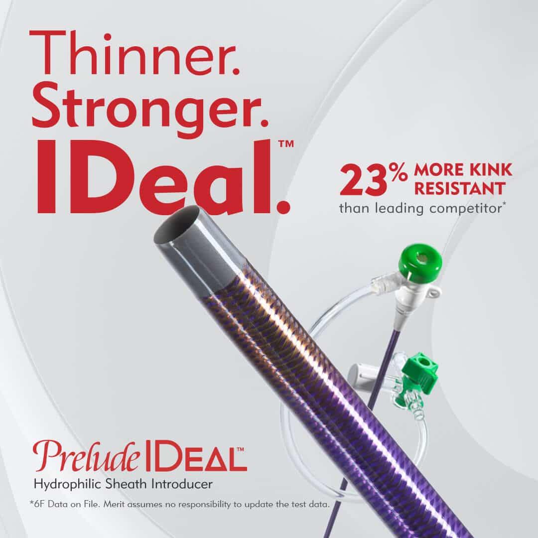 Thinner Stronger Ideal - 23% More Kink Resistance - Merit Medical