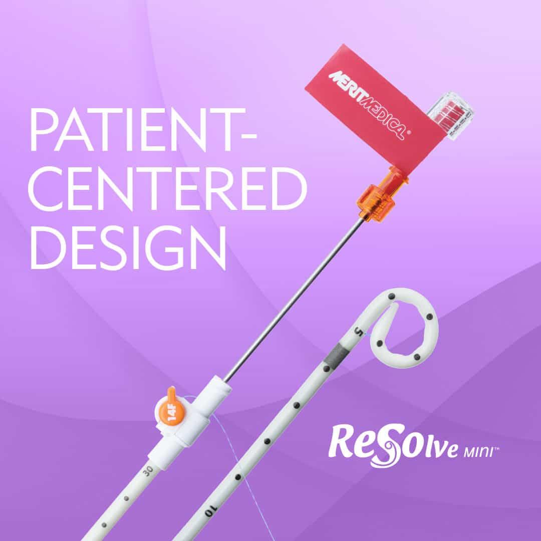 ReSolve Mini Locking Catheter - Patient Centered Design - Merit Medical