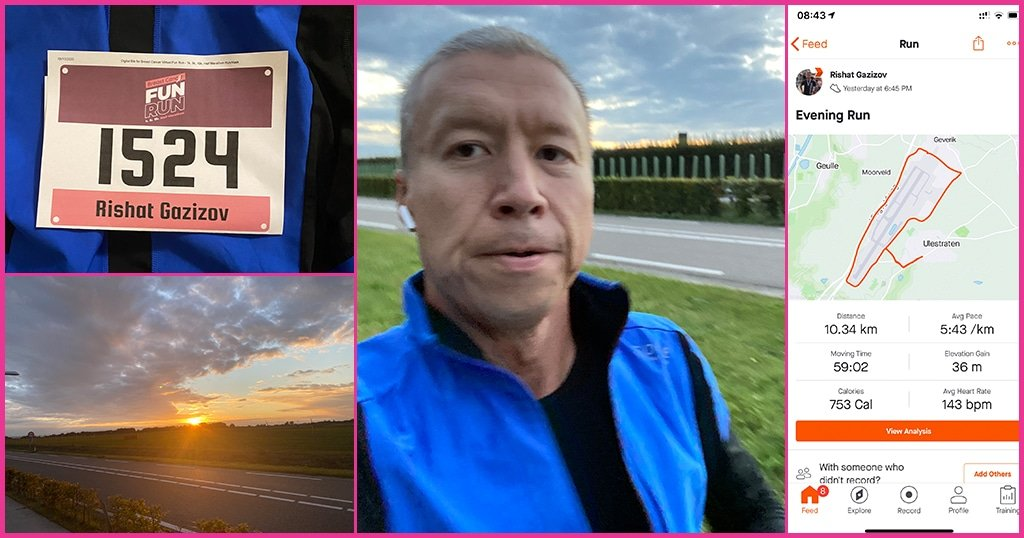 Runs For a Purpose - Breast Cancer Awareness Month - Rishat Gazizov - Merit Medical Russia