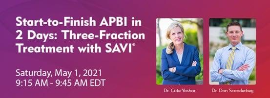 SAVI Brachy - Start to Finish APBI in 3 Days