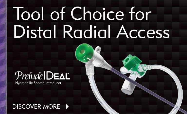 Prelude IDeal Hydrophilic Sheath Introducer - The Tool of Choice for Distal Radial Access