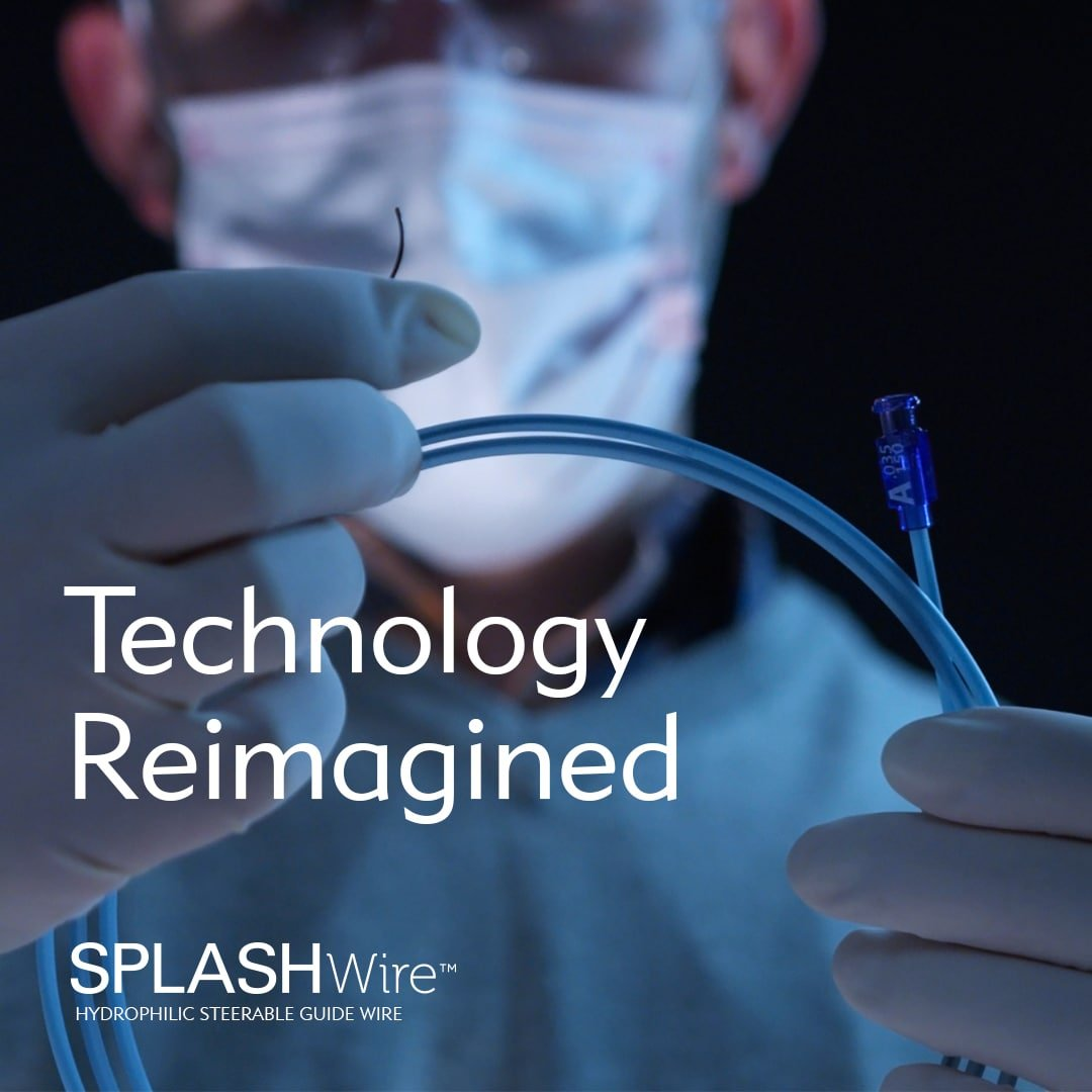 Technology Reimagined - the SplashWire Hydrophilic Steerable Guide Wire