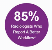 85% radiologists who report a better workflow
